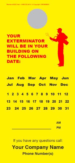 Your Exterminator Will Be In Your Building Doorhanger