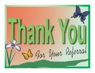 2585 – Thank You Postcard